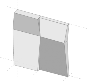 3D-Fassade Element Rhombus