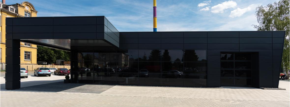 AUtohaus Chemnitz - Alumium FF2 Fassade