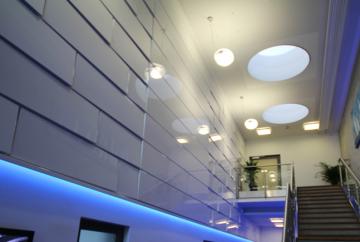 3D Fassade im Innenbereich der LIROS GmbH