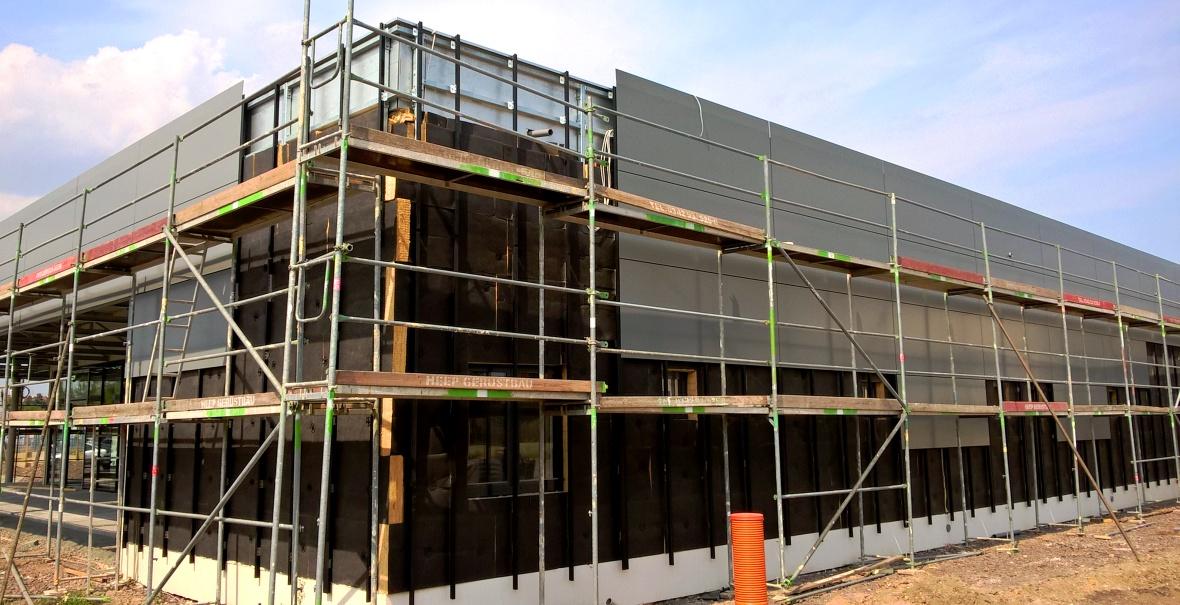 Baubeginn Aluverbundfassade Aldi