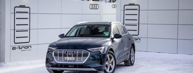 Unsere Bekleidung für die mobilen Ladecontainer von Audi beim Weltwirtschaftsforum in Davos